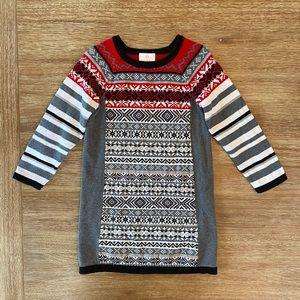 Hanna Andersson Girls' Fair Isle Sweater Dress 110